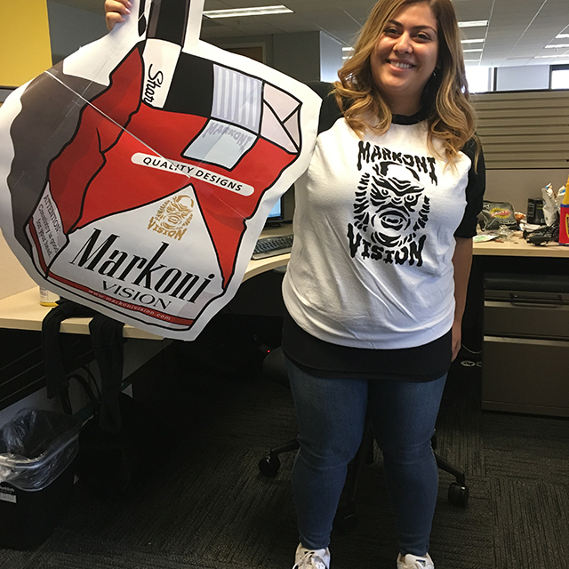 MarkoniVision poster and sport t-shirt