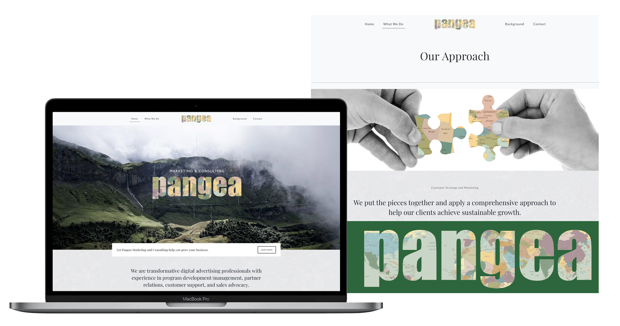 pangea website and logo design