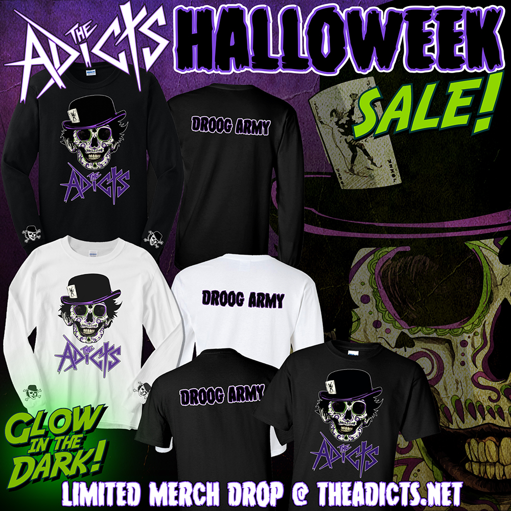 T-shirt Graphics and Ad Design for the Adicts