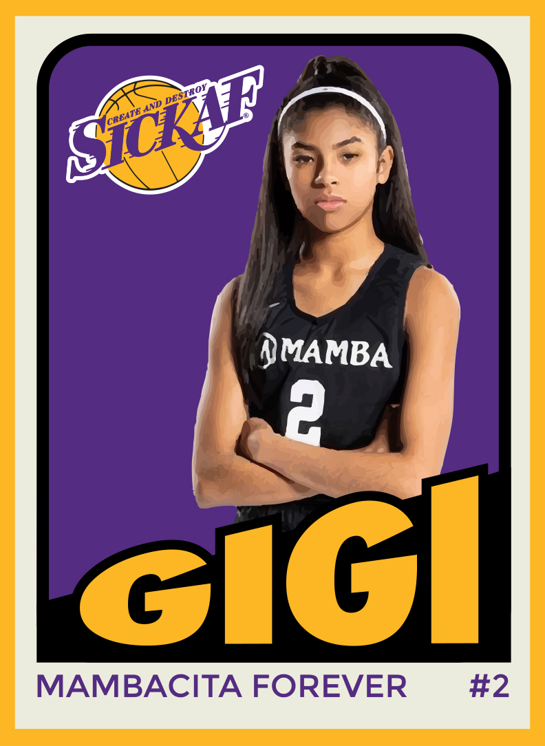 Gigi Bryant Retro Designed Sticker Card