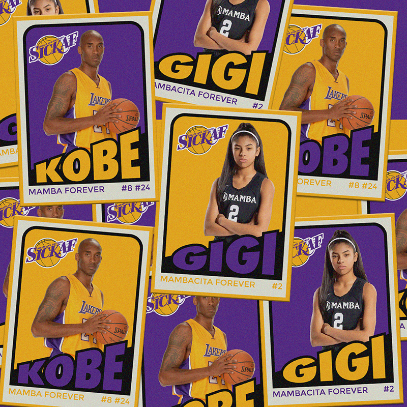 Kobe Bryant Retro Designed Stickers